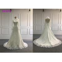 Buy cheap Women High Neckline A Line Ball Gown Wedding Dress Lace Embroidery Decoration from wholesalers