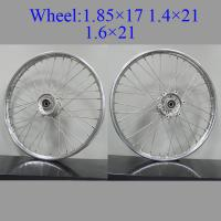 Buy cheap 16 Inch Spoked Motorcycle Wheels High Precision Sliver Coated Multi - Color from wholesalers
