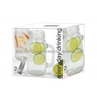Buy cheap Customized mason jar mugs with lids 22oz / mason jar for drinking food grade from wholesalers
