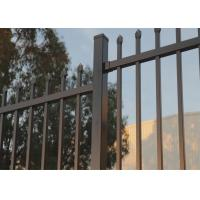 Buy cheap Crimped Spear security Steel Fencing  come with 65mm square tubing 2.1mtrx2.4mtr  stain powder coating from wholesalers