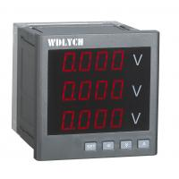 Buy cheap Gray Dual Led Digital Panel Watt Meter , Panel Mount Voltage Display 4 Digits Led from wholesalers