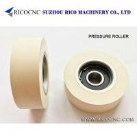 Buy cheap Rubber Pressure Roller Wheels with Bearing for Edgebanders Edge Banding Machine from wholesalers