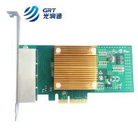 Buy cheap 1000Base-T Intel I350 based PCIe Gigabit 4 Port RJ45 Fiber Lan Card NIC from wholesalers