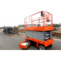 Buy cheap Mobile Self Propelled Scissor Lift Aerial Work Platform For Aircraft Maintenance / Manufacturing from wholesalers