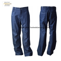 China Protective Men's Fire Resistant Trousers Denim Dungaree on sale