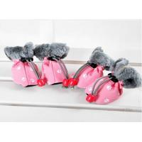 Buy cheap Christmas OEM Cute PET PU Dog Shoes FOR winter , S M XL dog running shoes from wholesalers