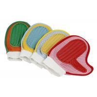 Cloth TPR Pet Washing Glove Fur Massage Four Color ODM Accepted Short Medium Size
