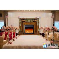 Buy cheap Free Standing White Antique Decorative Fireplace , RV Electric Fireplace With Mantel from wholesalers