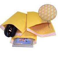 Buy cheap Kraft Yellow Bubble Wrap Envelope / Kraft Paper Mailers UV Proof 175x260mm #D from wholesalers