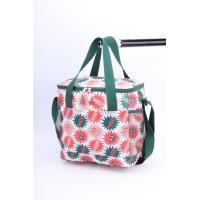 Ladies Wine Polyester Cooler Bag Folding Insulation Lining Heat Transfer Printing