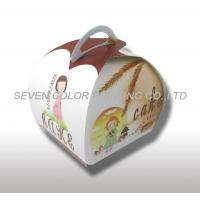 China Compare Custom Cardboard cake Packaging Boxes With Handle, Coated Paper Cake Boxes on sale