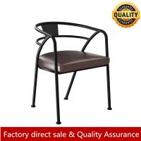 Buy cheap Loft/Rustic metal arm chair for restaurant and bar metal leather arm chair hot sale modern metal arm chair from wholesalers
