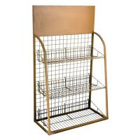 Buy cheap Easy Assembly Pet Metal Display Racks For Pets' Apparels With Wood Panel from wholesalers