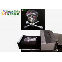 Buy cheap DIY flatbed DTG printer for t shirt printing , 8 colors DX5 printer head from wholesalers