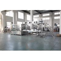 Auto Plastic Bottle Water Filling Machine With PLC Control Stainless Steel Material