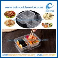 Buy cheap disposable 2 compartment plastic thin wall food container mould with 650ml from wholesalers