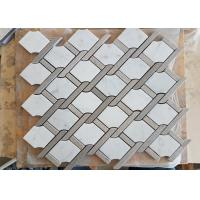 Buy cheap White marble hexagon mosic tile 10mm Thickness For Bathroom / Kitchen from wholesalers