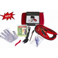Quality 18 pcs auto emergency kit ,with tyre pressure gauge,jumper cable ,headlamp for sale