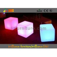 China PE round LED Bar Stools with Wireless Remote Control / nontoxic and peculiar smell on sale
