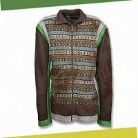 Buy cheap 100% Lambswool Cardigan with Zip-up Front, Available in Various Colors from wholesalers