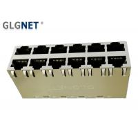 Buy cheap Magnetic RJ45 Connector  2 X 6 Stacked RJ45  -40 °C to 85 °C  Operating Temp POE+ product