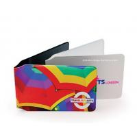 Buy cheap Customized Full Color Plastic Card Holder Artificial Leather Card Wallet from wholesalers