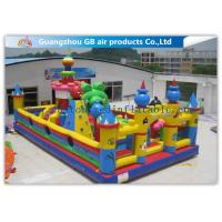 Buy cheap Outside Inflatable Amusement Theme Parks With Bounce House Waterproof PVC product