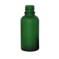 Buy cheap Round Shape Green 30ml Frosted Essential Oil Bottles from wholesalers