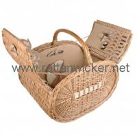 Buy cheap Winged picnic basket/hamper for 2 person PB1018-RB from wholesalers
