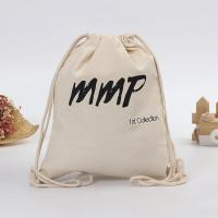 Buy cheap Offset Printing Cotton Canvas Drawstring Bag For Non - Grocery Shopping from wholesalers