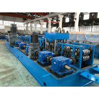 Buy cheap 2.0 - 5.0mm Steel Purlin Roll Forming Machine with Gear Box Wire - electrode structure from wholesalers