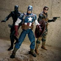 Buy cheap Popular Superhero Action Figures Plastic Baby Toys Captain America 3D Modle from wholesalers