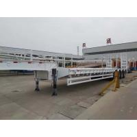 Buy cheap 4 Axles Heavy Duty Low Bed Semi Trailer With FUWA Axle And 14mm Channel Steel Cross Beam from wholesalers