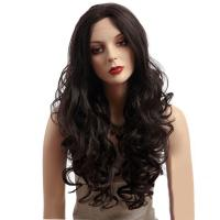 Buy cheap 26 Natural Curly Body Wavy Synthetic Front Lace Wigs With Baby Hair from wholesalers