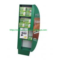 Buy cheap Free Standing Green Cosmetics Cardboard Retail Display Glossy Lamination from wholesalers