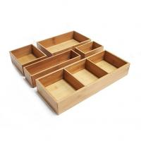 Buy cheap Bamboo wood kitchen cutlery holder drawer organizer from wholesalers