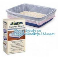 CAT PAN LINERS, DRAWSTRING CAT LITTER TRAY LINERS, CAT LITTER BAGS, Eco-friendly