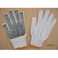 Buy cheap 50g black PVC dotted working gloves Safety glove cotton knitted safety glove from wholesalers