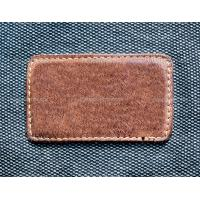 Buy cheap custom embossed leather label product