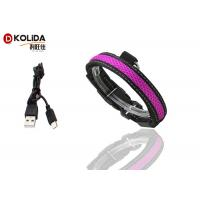 Buy cheap Purple / Green USB Rechargeable LED Dog Collar Waterproof Flashing Dog Collar product