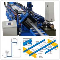 Buy cheap Automatic Z Purlin Roll Forming Machine 5 Tons Manual Uncoiler PLC Control from wholesalers