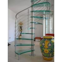 Buy cheap Customize Design Glass - Steel Spiral Staircase with Handrail from wholesalers