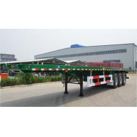 Buy cheap Flat-bed Semi Trailer Truck 3 Axles 30-60Tons 13m for Container Loading from wholesalers