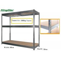 Buy cheap Durable Boltless Garage Shelving System , 3 Tier Metal Shelving Unit No Bolting 300Kg Capacity from wholesalers