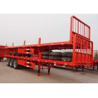 Buy cheap 13m flat bed semi trailer tri-axle container trailer low price from wholesalers