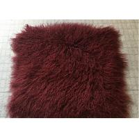Buy cheap Bed Throw Blanket Mongolian Sheepskin Rug Warm Soft With Raw / Dyed Color from wholesalers