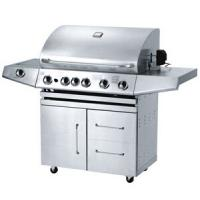 China stainless steel gas grill with five main burners on sale