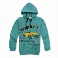 Buy cheap Children's Polar Fleece Long Sleeve Hoodie T-shirt with Print, Embroidery from wholesalers
