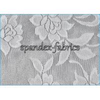 Buy cheap Flower Design White Stretch Lace Fabric Nylon Lycra Lingerie Fabric from wholesalers