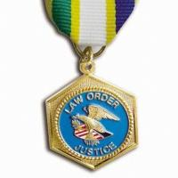 Buy cheap Souvenir custom Zinc alloy material metal medals,with painted colors for army from wholesalers
